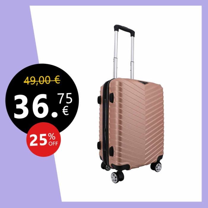Spacewalker Arrow Spinner Cabine 4 roulettes Extensible 55/28 Bagage Cabine, 55 cm, 38.0 litres, Champagne