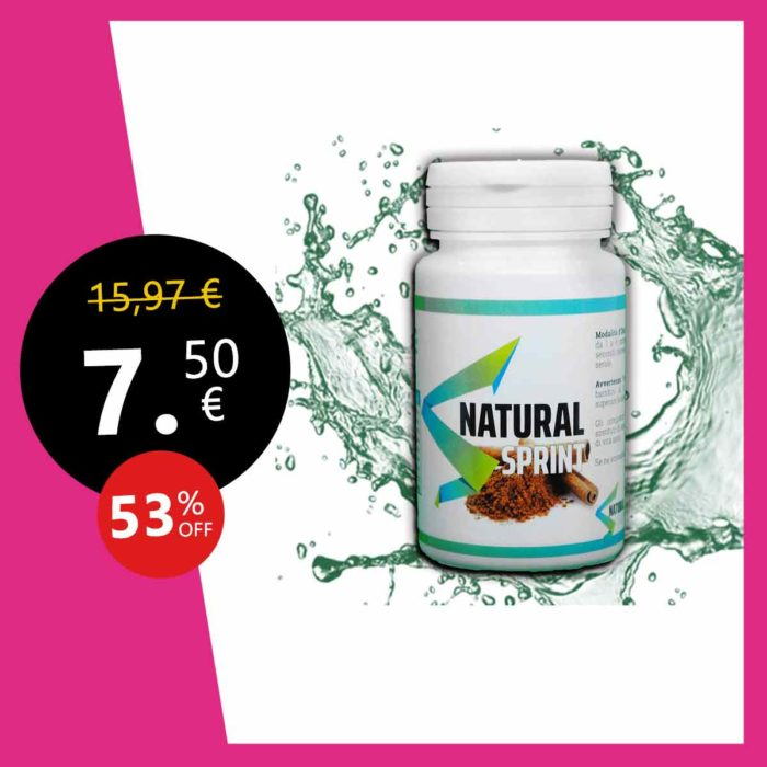 NATURAL SPRINT |Constipation adultes – Transit Intestinal – Laxatif naturel – Ventre plat femme et homme – intestinal – Détox minceur – Transit Nettoyage du colon – 90 Comprime –
