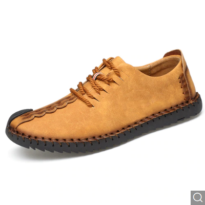 Men's British Style Outdoor Fashion Lace-up Casual Shoes – Bee Yellow EU 40