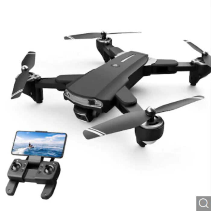 HD Aerial Photography Remote Control Drone GPS Positioning Foldable Quadcopter – Black 6k