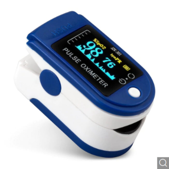 Fingertip Oximeter Pulse Oximetry Instrument Monitoring Heart Rate Blood Glucose SpO2 – Blue China